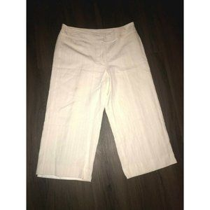 Emma James Womens Size 14 Wide Leg Off White